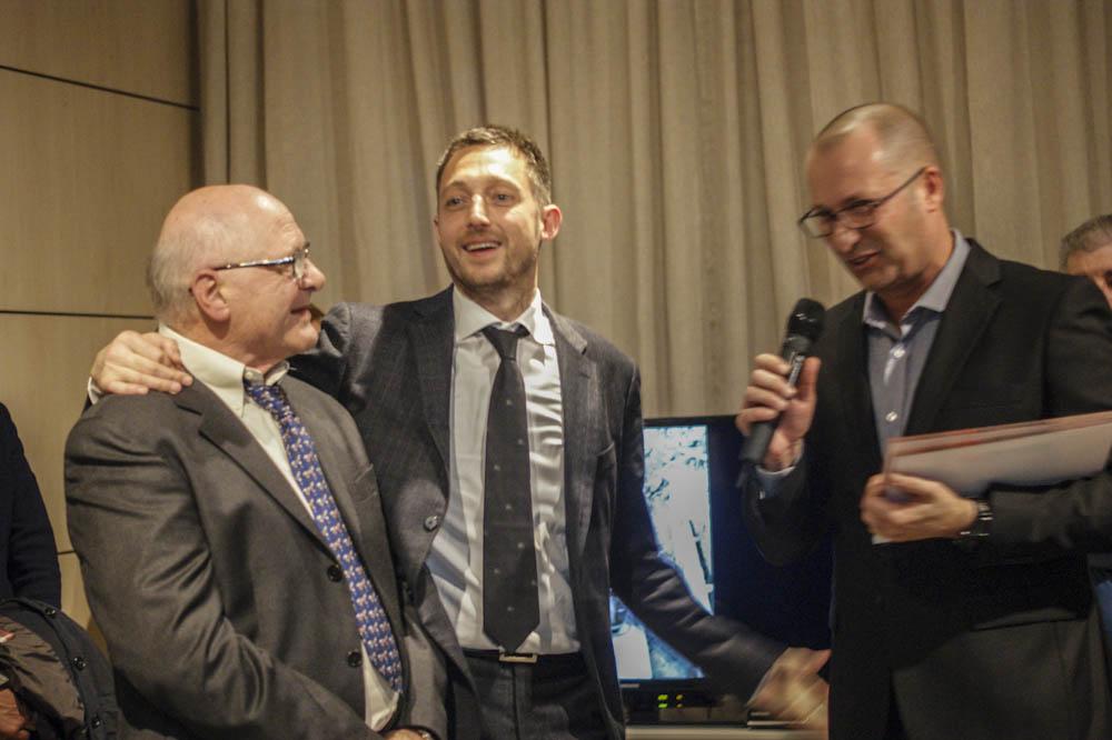 Carlo e Filippo Berto con Maurizio Riva