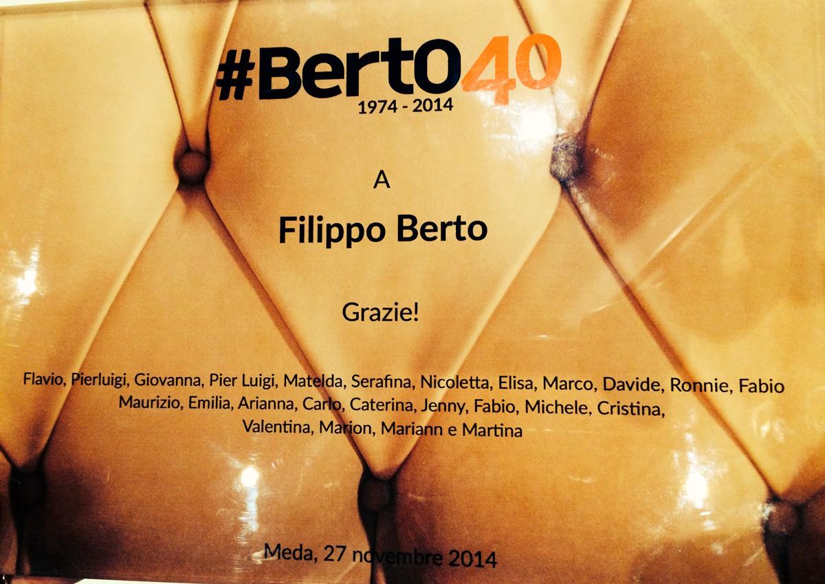 Plaque Filippo Berto