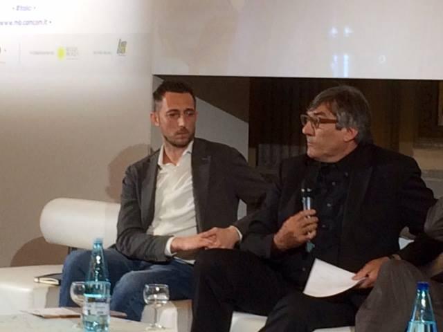 Filippo Berto e Maurizio Riva al convegno sugli Italici villa reale di monza