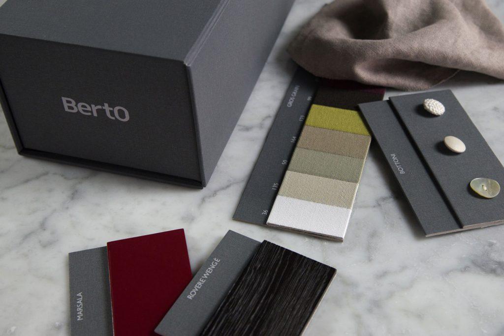 Échantillons de matériaux et de finitions BertO pour les architectes et les professionnels