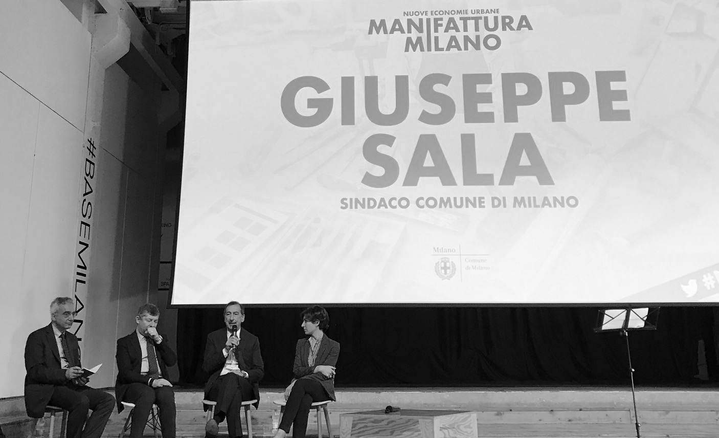 Sindaco Giuseppe Sala manifattura milano
