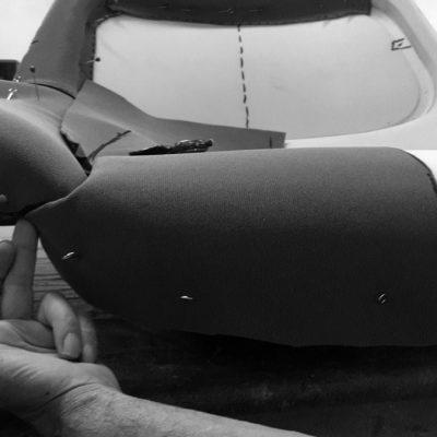 prototipo rivestimento poltrona e pouf Hanna