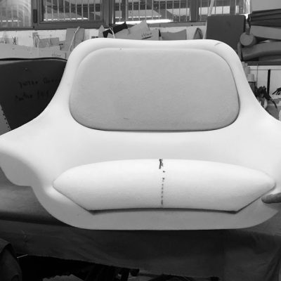 prototipo imbottitura poltrona Hanna