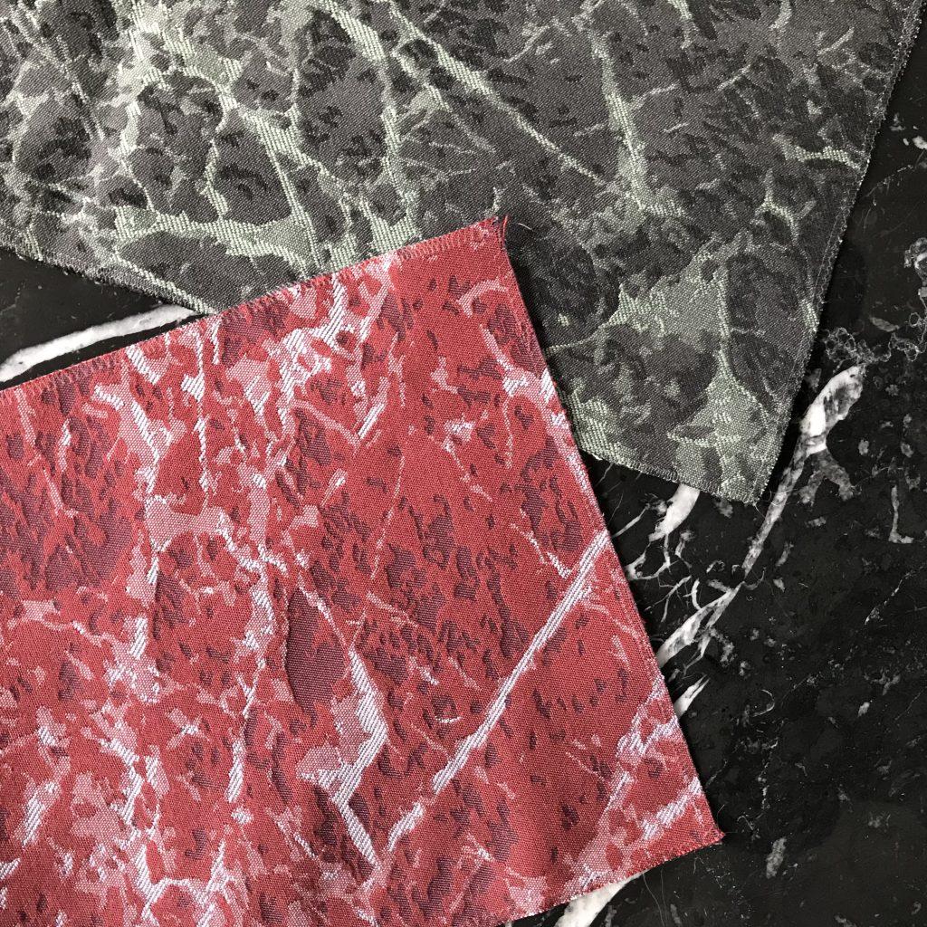 Collection de tissus et cuirs Berto: revêtement pour roulements effet marbre