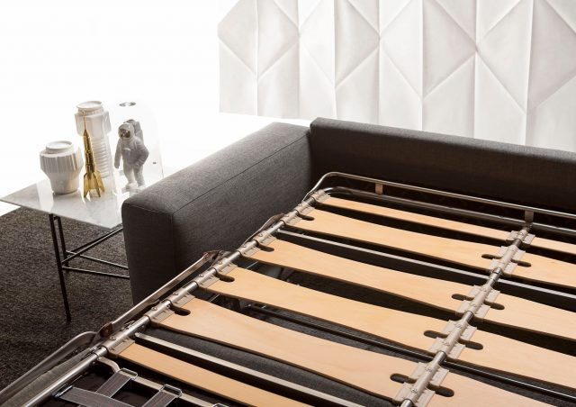 Canapé lit Passepartout avec sommier à lattes de bois berto salotti