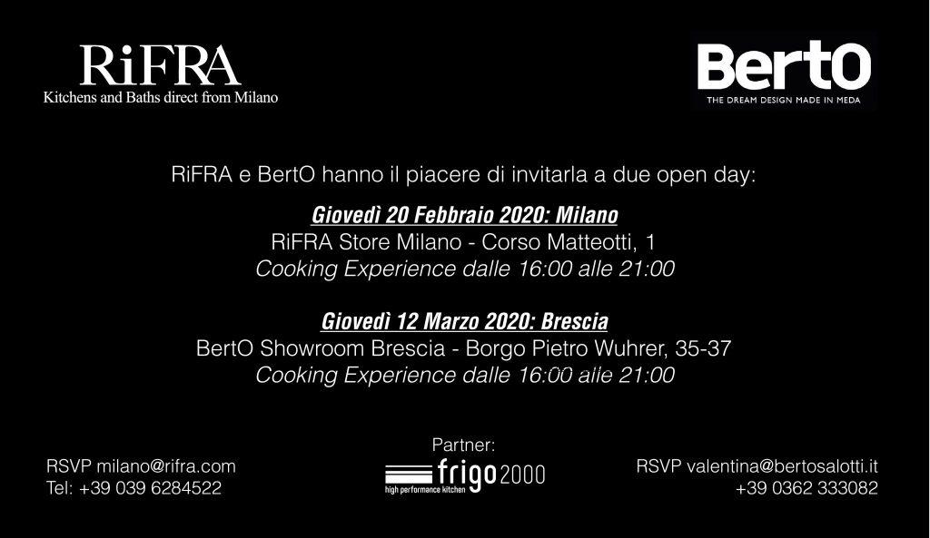 BertO et RiFRA vous invitent à une soirée qui unit plaisir du palais et plaisir du confort