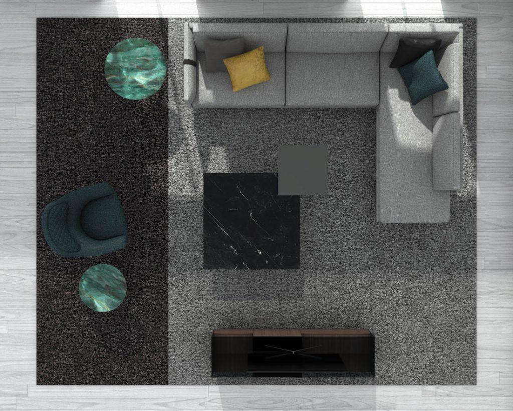 Canapé moderne Dee Dee de BertO avec les compléments de la Collection BertO 2021