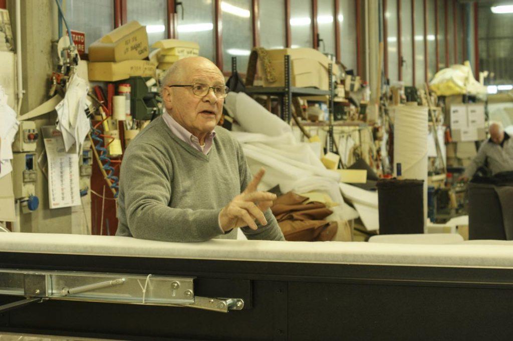 Giorgio Berto dans l'atelier