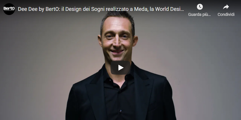 Vidéo Filippo Berto canapé Made in Meda