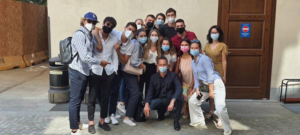 Filippo Berto avec les étudiants de l'Università Cattolica de Milan pour l'Hackathon BertO